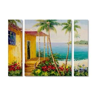 Rio 'Key West Villa' Multi Panel Art Set