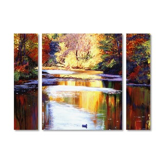 David Lloyd Glover 'Reflections of August' Multi Panel Art Set