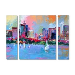 Richard Wallich 'Boston 3' Multi Panel Art Set