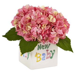 Hydrangea in New Baby Ceramic (Pink)