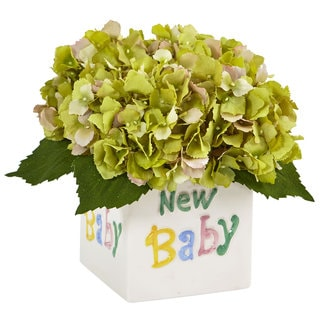 Hydrangea in New Baby Ceramic (Green)