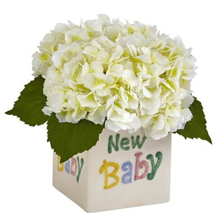 Hydrangea in New Baby Ceramic (Cream)