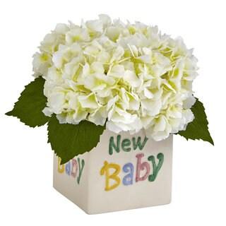 Hydrangea in New Baby Ceramic (Cream)