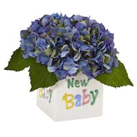 Hydrangea in New Baby Ceramic (Blue)