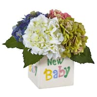 Hydrangea in New Baby Ceramic (Assorted)