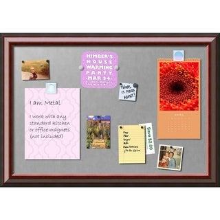 Framed Magnetic Board, Cambridge Mahogany