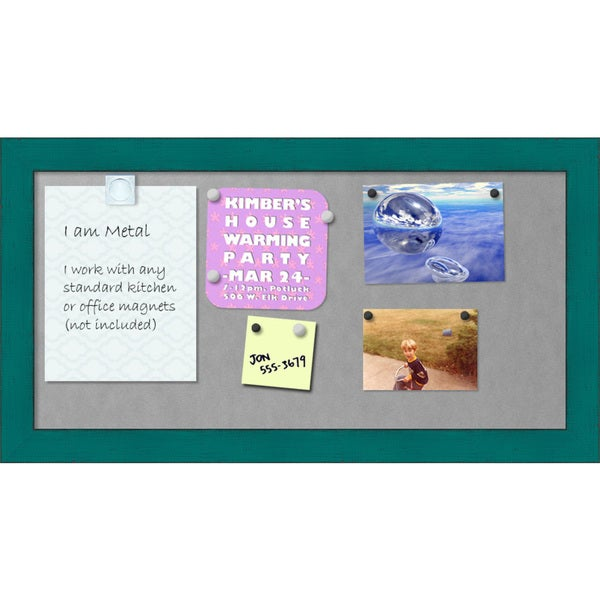 Framed Magnetic Board, French Teal Rustic