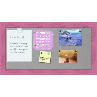 Framed Magnetic Board, Petticoat Pink Rustic