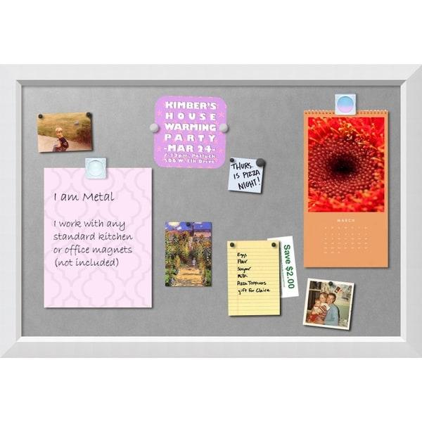 Framed Magnetic Board, Blanco White