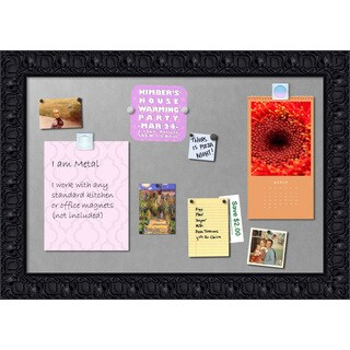 Framed Magnetic Board, Black Luxor