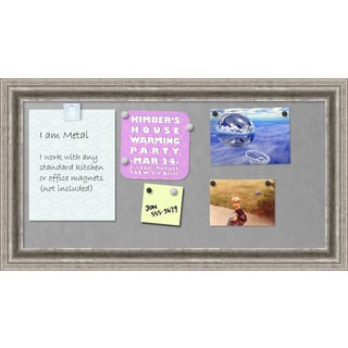 Framed Magnetic Board, Bel Volto Silver