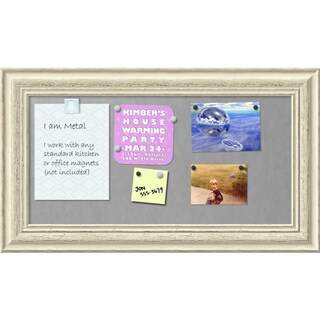 Framed Magnetic Board, Country White Wash (3 options available)