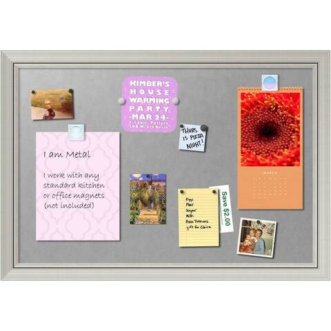 Framed Magnetic Board, Romano Silver
