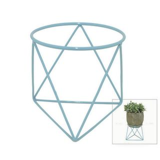 Benzara 75234 7.75-inch Metal Plant Stand