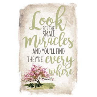 New Horizon 'Look For Small Miracles' 6-inch x 9-inch Wood Plaque with Easel