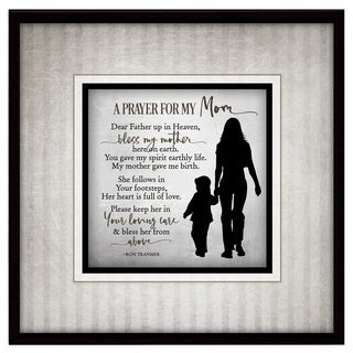 Simple Expressions 'Prayer For My Mom' Wood Plaque with Easel
