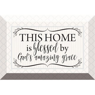 'This Home Is Blessed' Glass 6-inch x 4-inch Plaque with Easel