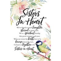 Woodland Grace Series 'Sisters In Heart' Wood 6-inch x 9-inch Plaque with Easel