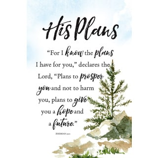 Woodland Grace Series 'His Plans, For I Know' Wood Plaque with Easel
