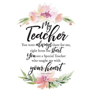 Woodland Grace Series 'My Teacher' Wood 6x9 Plaque with Easel