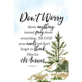 Don't Worry About Woodland Grace Series 6 x 9 Wood Plaque with Easel