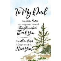 Woodland Grace Series 'To My Dad' Wood 6-inch x 9-inch Plaque with Easel