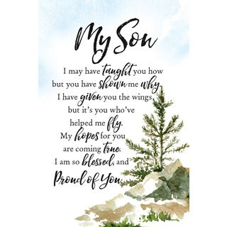 'My Son' Woodland Grace Series Wood 6-inch x 9-inch Plaque with Easel