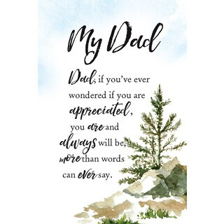 Woodland Grace Series 'My Dad' Wood 6-inch x 9-inch Plaque with Easel