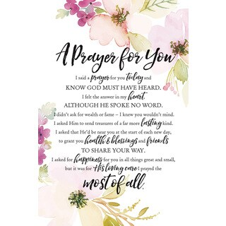 """A Prayer For You"" Woodland Grace Series Wood Plaque with Easel"