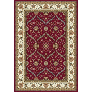 Istanbul Collection Red/Cream Polypropylene Turkish Area Rug (2'6 x 7'2)