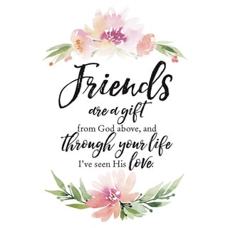 Woodland Grace Series 'Friends are a Gift' Wood 6-inch x 9-inch Plaque with Easel