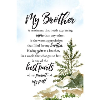 Woodland Grace Series 'My Brother' Wood 6-inch x 9-inch Plaque with Easel