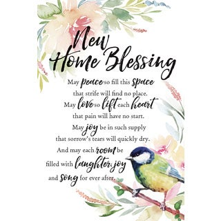 Woodland Grace Series 'New Home Blessing' Wood 6-inch x 9-inch Plaque with Easel