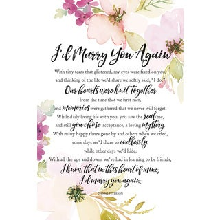 Woodland Grace Series 'I'd Marry You Again' Wood 6-inch x 9-inch Plaque with Easel