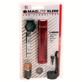 Maglite XL200 3 Cell AAA LED, Blister Pack Tactical Red