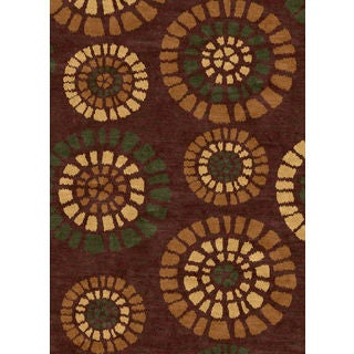 Ethnic Collection Brown Polypropylene Turkish Area Rug (2'6 x 7'2)