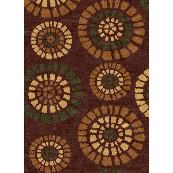Ethnic Collection Brown Turkish Area Rug(5'3 x 7'3)
