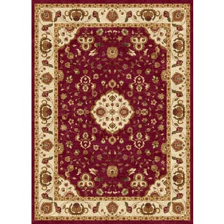 Ethnic Collection Burgundy Polypropylene Turkish Area Rug (7'10 x 10'6)