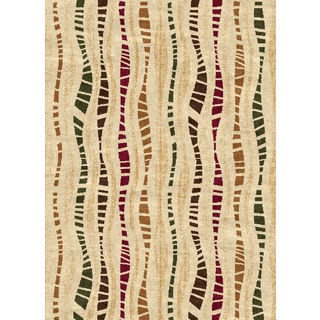 Ethnic Collection Multi Stripe Turkish Area Rug (2'6 x 7'2)