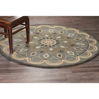 LR Home Hand Tufted Dazzle Mesmerizing Gray Wool Rug - 6'