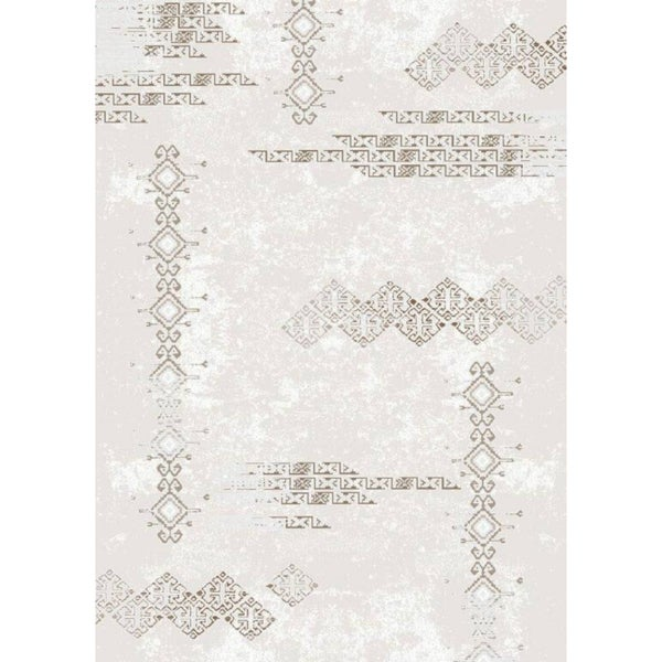 Luxury Collection Cream Abstract Turkish Area Rug - 2'6x7'2