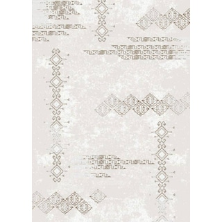 Luxury Collection Cream Polypropylene Abstract Turkish Area Rug (7'10 x 10'6)