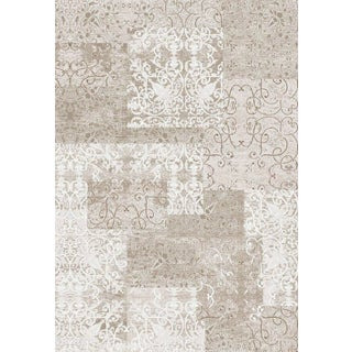 Luxury Collection Cream Polypropylene Turkish Area Rug (5'3 x 7'3)