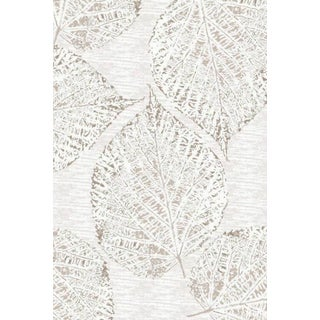 Luxury Collection Taupe Polypropylene Leaf Turkish Area Rug (5'3 x 7'3)