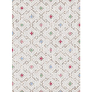 Melody Collection Multi-square Turkish Area Rug (2'6 x 7'2)