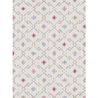 Melody Collection Multicolor Polypropylene Square Turkish Area Rug (7'10 x 10'6)