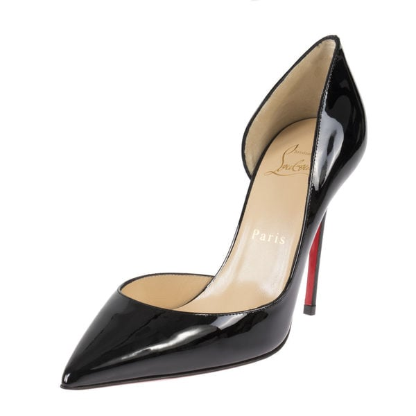 8855cb9bd Shop Christian Louboutin Iriza Black Patent d Orsay Shoes - Free ...
