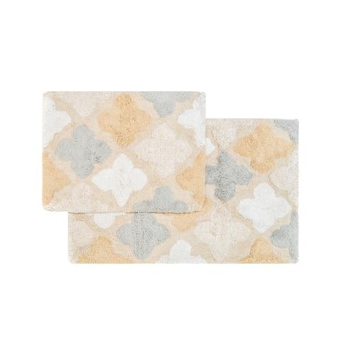"Chesapeake Alloy Moroccan Tiles 2Pc. Bath Rug Set (21""x34"" & 17""x24"")"