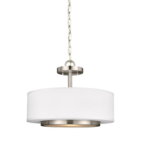 Sea Gull Nance 2 Light Brushed Nickel Ceiling Fixture