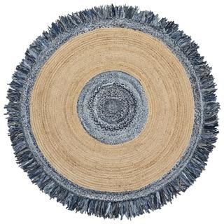 Blue Jeans Denim / Hemp Round Racktrack (3'x3')